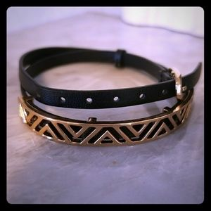 Stella and Dot black and gold wrap bracelet